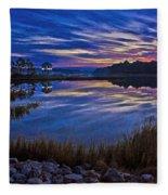 Cape Charles Sunrise Fleece Blanket