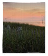 Cape Cod Bay Sunset Fleece Blanket