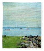 Cape Cod  Boats Fleece Blanket