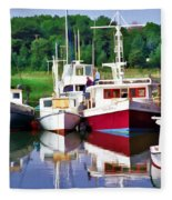 Cape Cod Harbor  Fleece Blanket