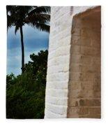 cape Florida light door Fleece Blanket
