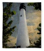Cape Florida Lighthouse 1 Fleece Blanket