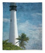 Cape Florida Lighthouse 2 Fleece Blanket