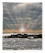Cape May After The Storm Fleece Blanket