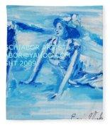 Cape May Bathing Beauty Fleece Blanket
