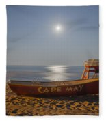 Cape May By Moonlight Fleece Blanket
