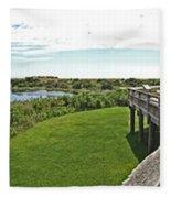 Cape May Hawk Watch Fleece Blanket