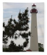 Cape May Lighthouse Fleece Blanket