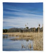 Cape May Marshes Fleece Blanket