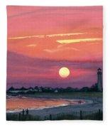 Cape May Sunset Fleece Blanket