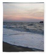 Cape May Sunset Beach Nj Fleece Blanket