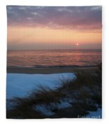 Cape May Twilight In February Fleece Blanket