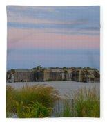 Cape May Wold War Two Concrete Bunker Fleece Blanket