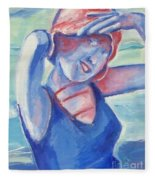 Cape May1920s Bathing Beauty Fleece Blanket