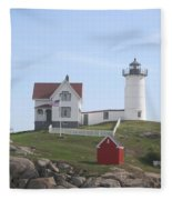 Cape Neddick Lighthouse - Me Fleece Blanket