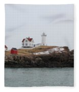 Cape Neddick - Nubble Light 2 Fleece Blanket