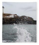 Cape Neddick - Nubble Light 4 Fleece Blanket