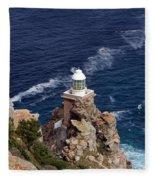 Cape Of Good Hope Lighthouse Fleece Blanket