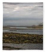 Cape Porpoise Maine - Fog On The Horizon Fleece Blanket