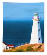 Cape Spear Lighthouse Fleece Blanket