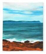 Cape Spear Shoreline Fleece Blanket
