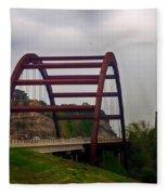 Capital Of Texas Bridge Fleece Blanket