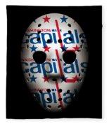 Capitals Goalie Mask Fleece Blanket