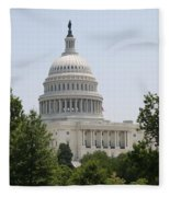 Capitol Dome  Washington Dc Fleece Blanket