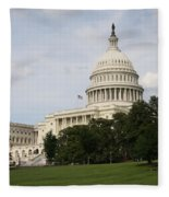 Capitol Hill Washington Dc Fleece Blanket