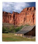 Capitol Reef Homestead Fleece Blanket