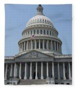 Capitol Washington Dc Fleece Blanket