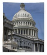 Capitol Washington Dc Steps And Stairs Fleece Blanket