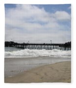Capitola Wharf Fleece Blanket