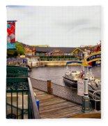 Cap'n Jacks Marina Harbor Walt Disney World Fleece Blanket