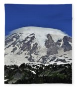 Capped Rainier Up Close Fleece Blanket