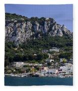Capri Italy Fleece Blanket