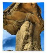 Caprock Mushroom Fleece Blanket