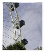 Capsules And Structure Of The Singapore Flyer Along With The Spokes Fleece Blanket