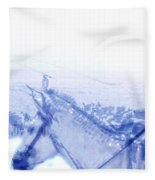 Capt. Call In A Snow Storm Fleece Blanket