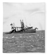 Capt. Jamie - Shrimp Boat - Bw 01 Fleece Blanket