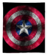Captain America Shield Fleece Blanket