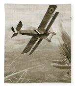 Captain Hawkers Aerial Battle Fleece Blanket