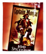 Captain Morgan Red Toned Fleece Blanket