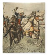 Capture Of Samory By Lieutenant Fleece Blanket