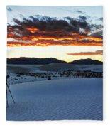 Capturing The Sunset Fleece Blanket