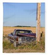Car Accident Fleece Blanket