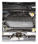 Car Engine Fleece Blanket