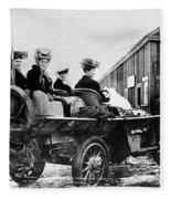 Car Race, 1908 Fleece Blanket