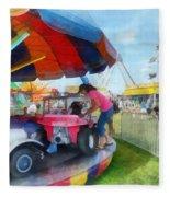 Car Ride At The Fair Fleece Blanket