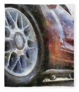 Car Rims 01 Photo Art 02 Fleece Blanket